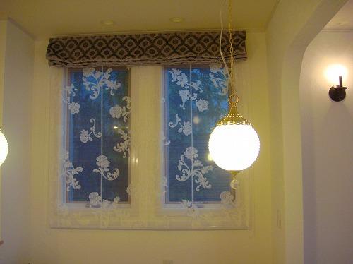 イタリアカーテン シェードスタイル グレーカーテン