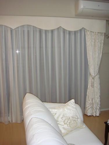ボンディングバランス 白いカーテン イタリア製カーテン