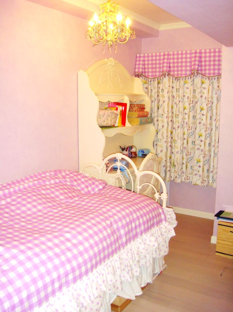 キングストンバランス ギンガムのカーテン 女の子の部屋