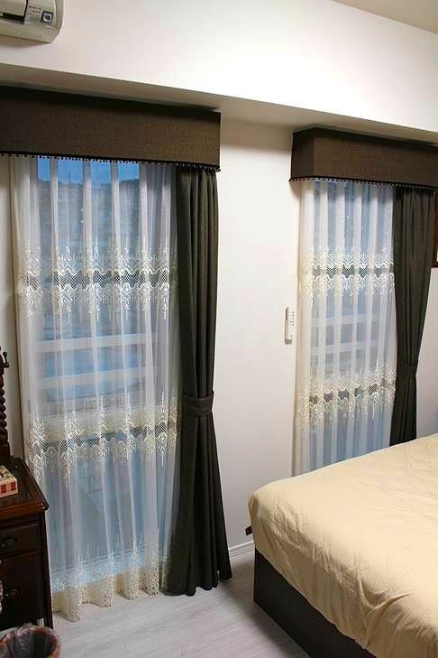 バランスカーテン 片開き 寝室のカーテン