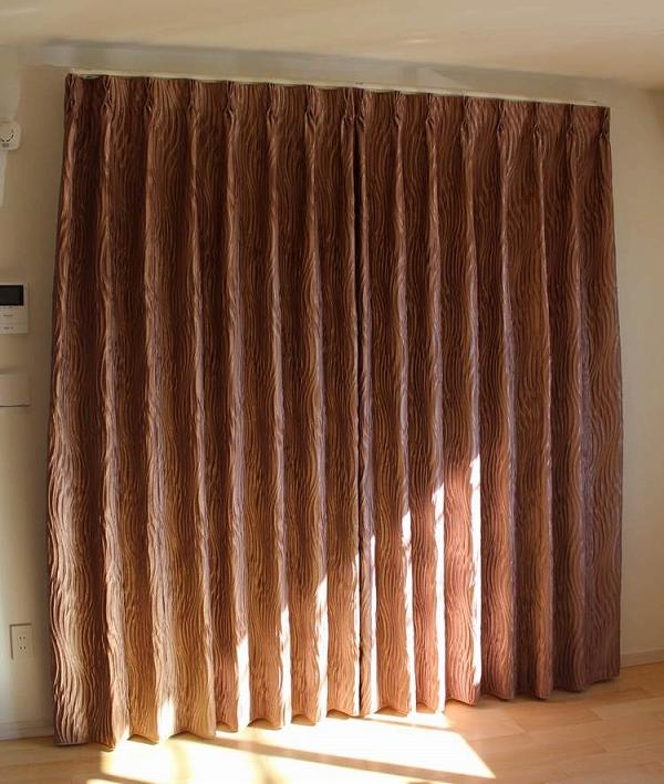 オーダーカーテン ヨーロッパのカーテン ピンクベージュ