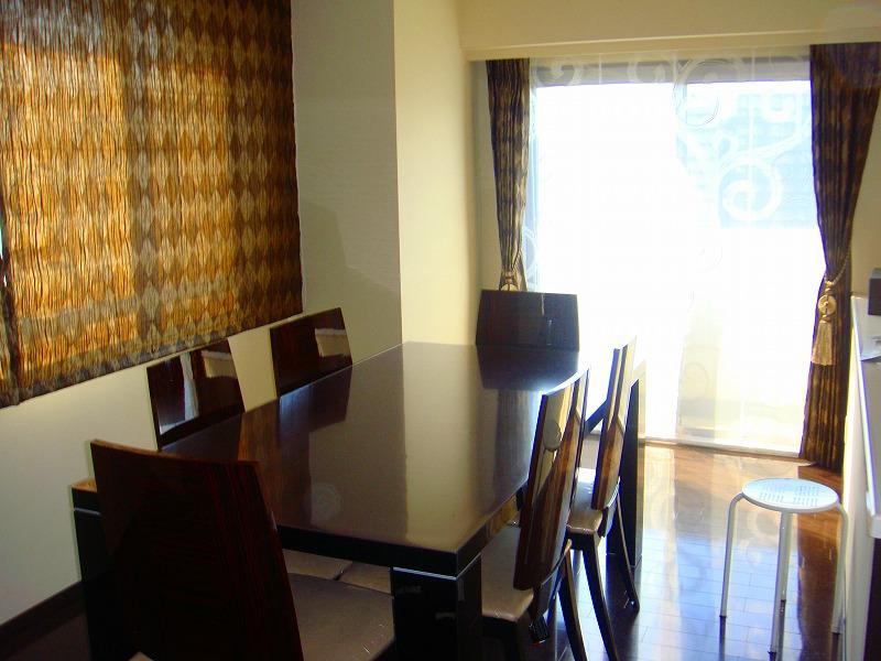 イタリア家具とコーディネート アーカイル模様