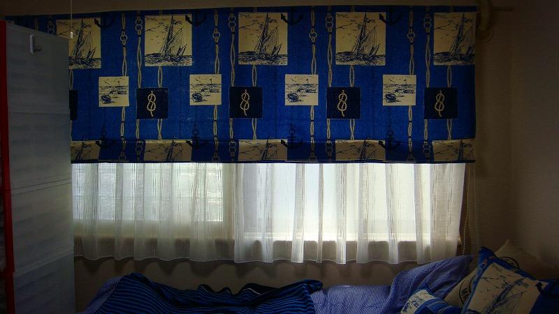 マリーンインテリア 海のモチーフカーテン