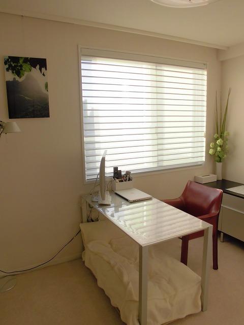 書斎のカーテンスタイル ハンター シルエット