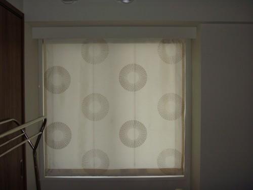 大柄のカーテン サークル柄 サテンのカーテン