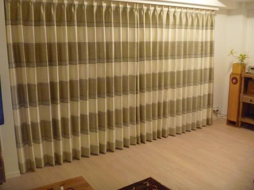 ボーダー柄 ナチュラルなカーテン ドイツ製カーテン