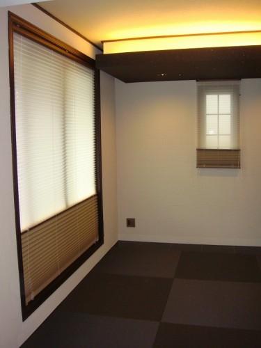 プリーツスクリーン タチカワ 和室のカーテン