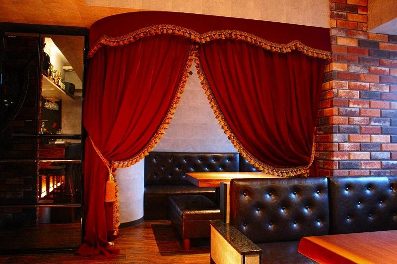 飲食店のカーテン VIP部屋のカーテン ラグジュアリーなカーテン