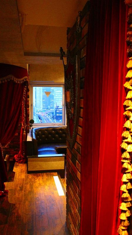 店舗のカーテン 飲食店のカーテン ベルベットのカーテン