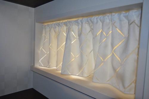オーダーカーテン 輸入カーテン 小窓のカーテン