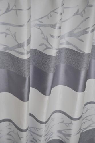 オーダーカーテン 輸入カーテン シルバーグレーのカーテン
