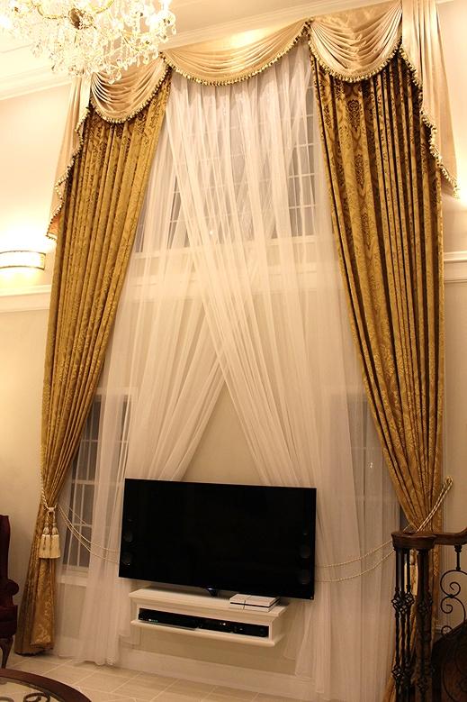 輸入カーテン スワッグバランス ヨーロッパのカーテン