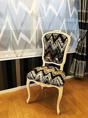 おしゃれなインテリア家具 椅子の張り替え生地 オーダーチェアー黒