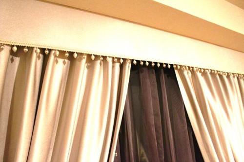 バランスカーテン グレージュのカーテン プラチナカラー 輸入カーテン