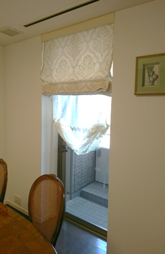 ダマスク柄 イタリア製生地 ヨーロッパのカーテン