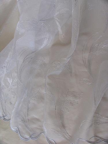 オーロラ.トルコ.280巾¥6,000(m) レースカーテン