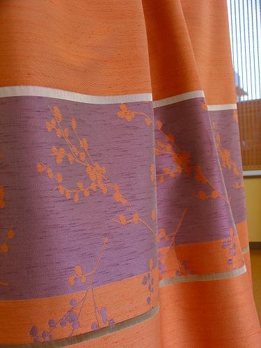 MIYABIオレンジ.ドイツ140巾¥5,800(m) ドレープカーテン
