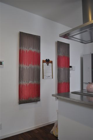 イギリスドレープ シャープシェード ピンクカーテン