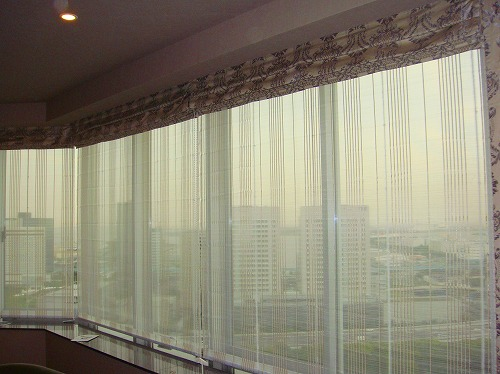 イギリス製カーテン ダマスク柄カーテン タワーマンションカーテン