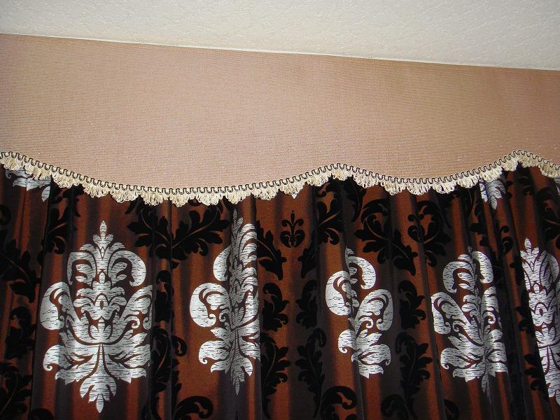 ダマスク柄 バランスカーテン フランス製カーテン