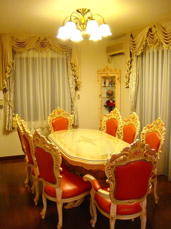 スワッグアンドテール 豪華なカーテン ヨーロッパ風