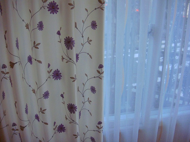 イギリス製カーテン 花柄