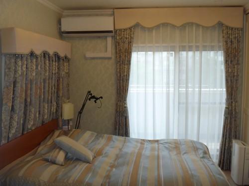 イギリス製カーテン ベッドスプレッド ペールブルー