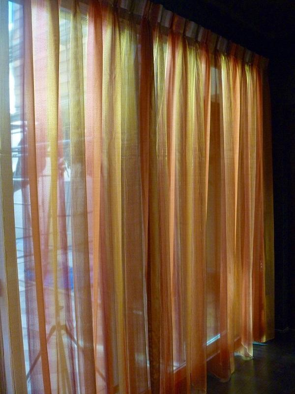 和室のカーテン 和洋折衷 ドイツ製レース