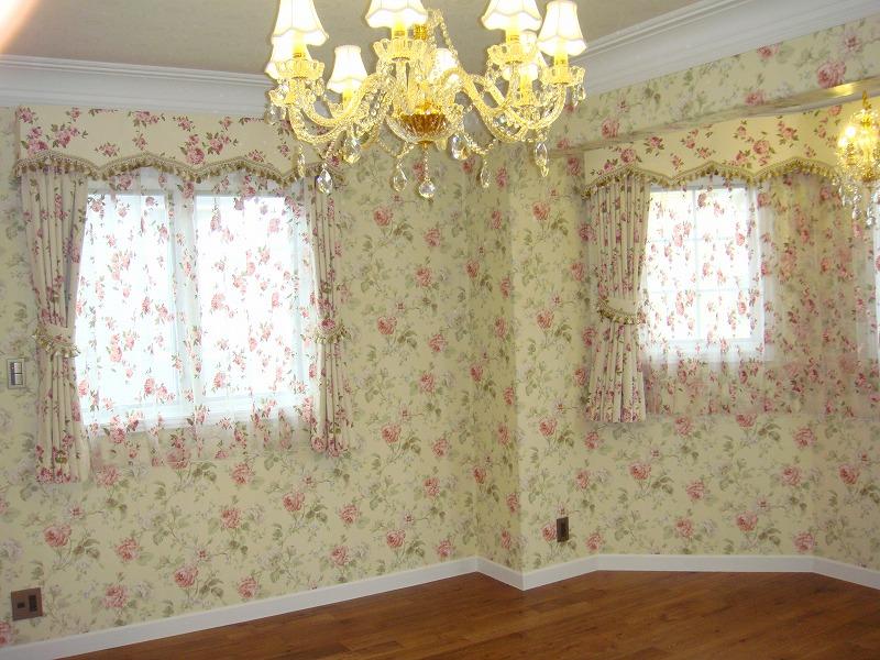 バラ柄 ローズ 花柄のカーテン