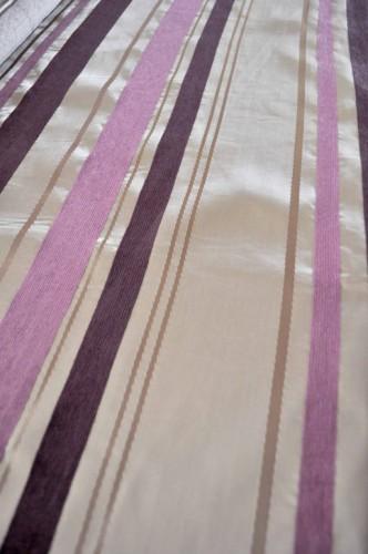 ピンクのカーテン イギリス製カーテン ボーダー