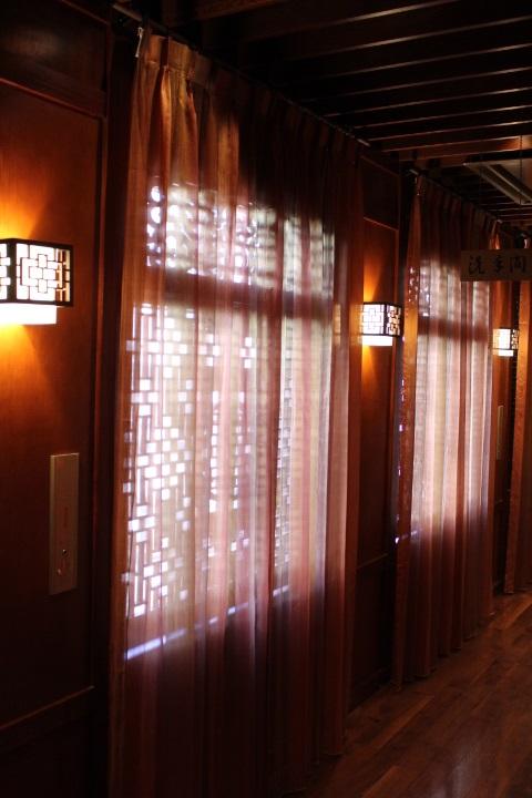 オリエンタルなカーテン 幻想的 グラデーションのカーテン