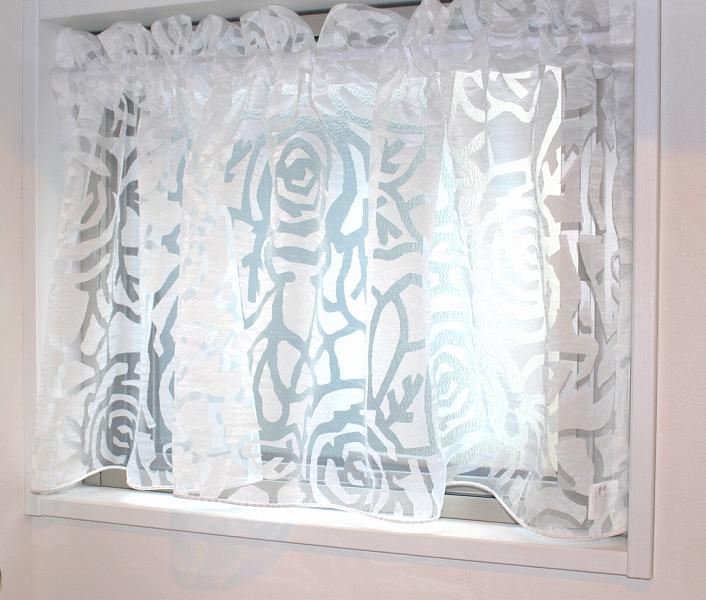 小窓 カフェカーテン イタリア製のレース