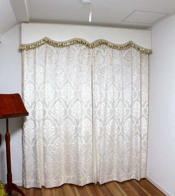 オーダーカーテン ヨーロッパのカーテン ダマスク柄のカーテン
