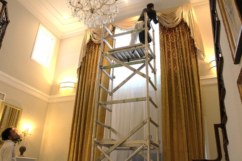 輸入カーテン 大きい窓 ヨーロッパのカーテン