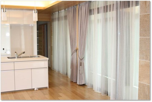 ドレープカーテン 輸入レースカーテン シンプルなカーテン
