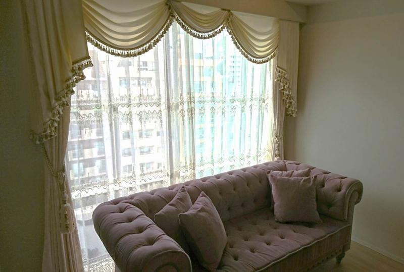 スワッグ&テール クラシックスタイル ヨーロッパのカーテン