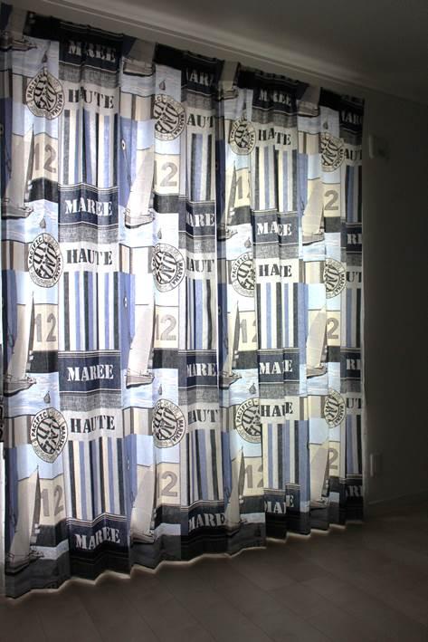 男の子の部屋 海外の子ども部屋 子供室のカーテン