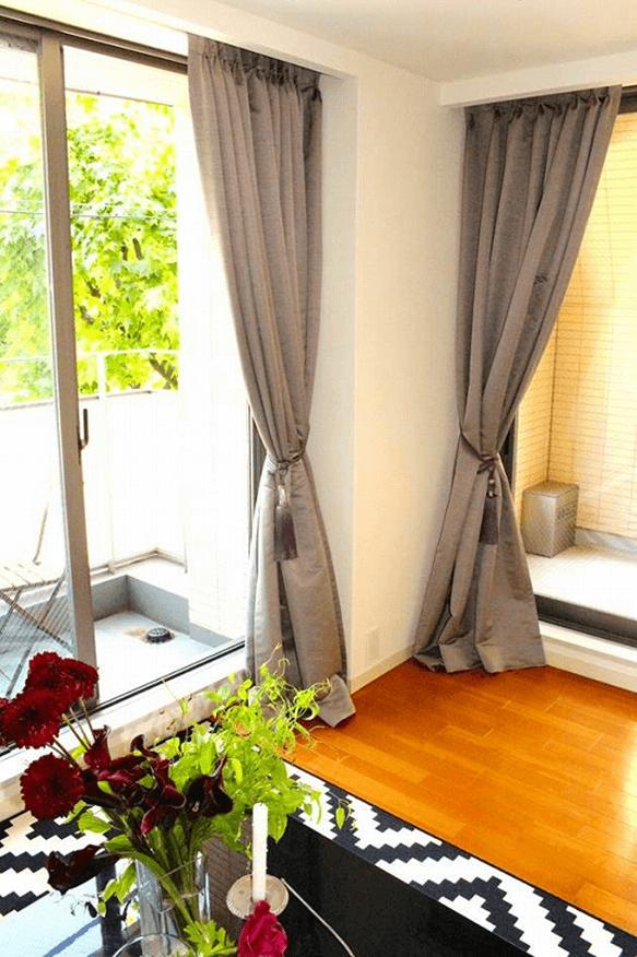 カーテン長め丈 こだわりのカーテン 輸入カーテン