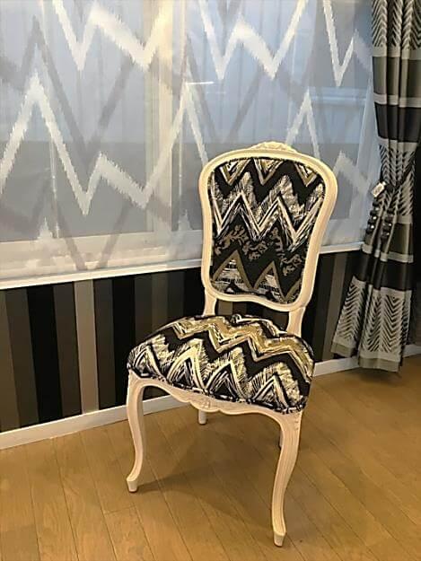 スペイン製の生地 椅子張り替え