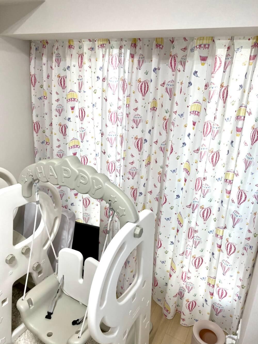 子供部屋 可愛い カーテン