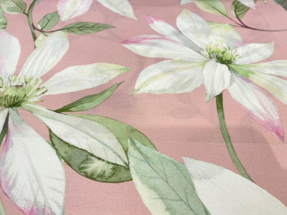 プリント柄カーテン ボタニカル 花柄