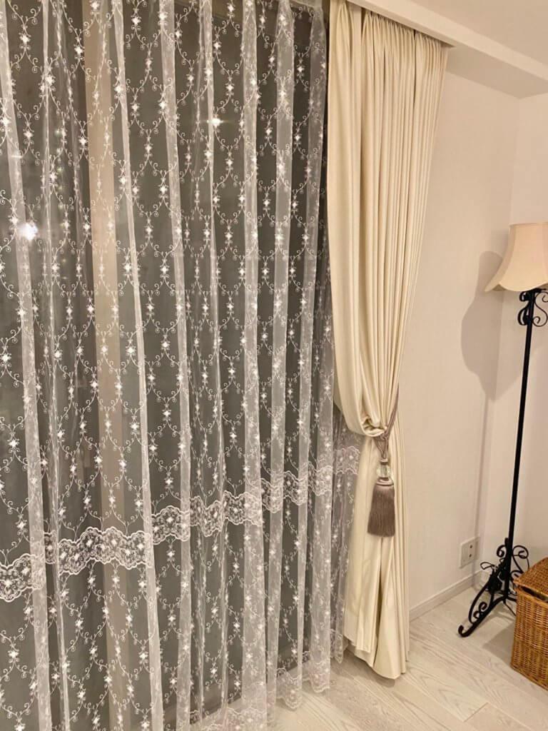 白いカーテン エレガント