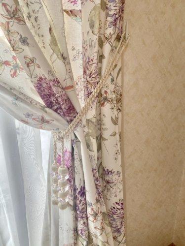 花柄カーテン コットンカーテン